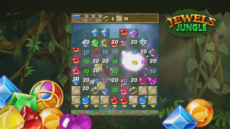 Jewels Jungle: три в ряд на андроид