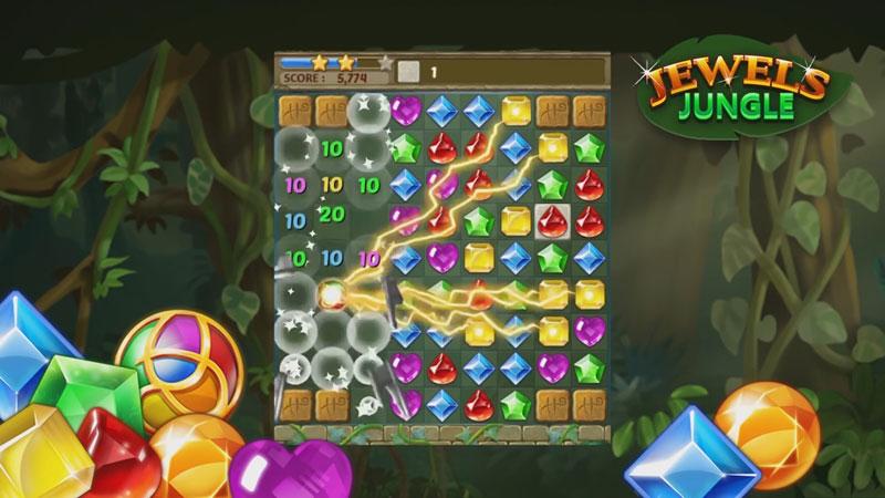 Jewels Jungle: три в ряд на телефон