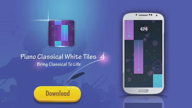 Piano Classical White Tiles 4 на андроид