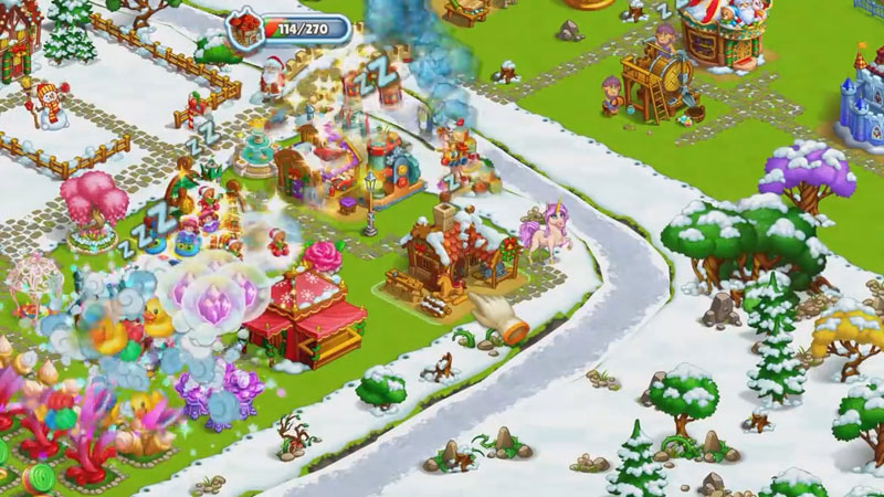 Новогодняя ферма Деда Мороза на телефон