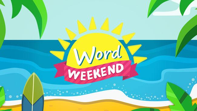Word Weekend - соедини буквы в слова