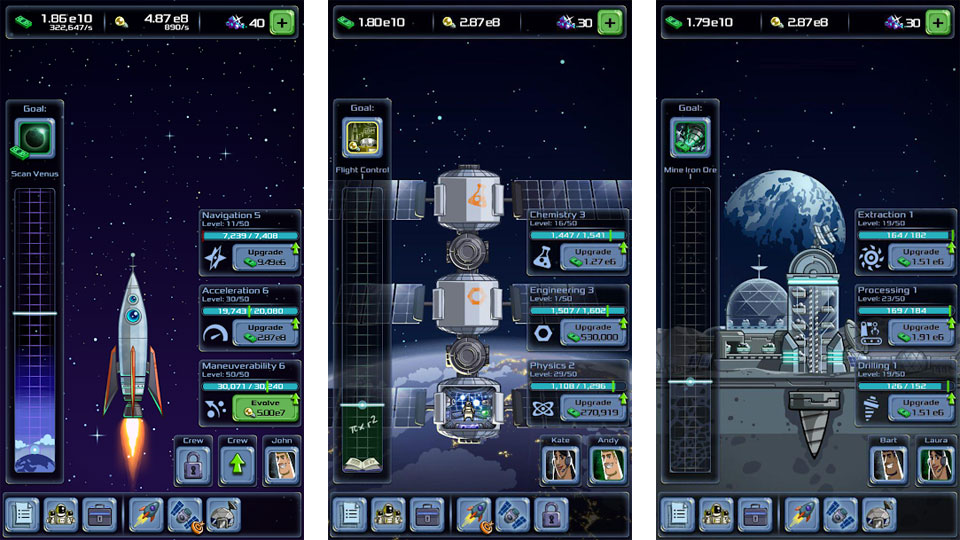 Ленивый магнат: космическая компания на андроид
